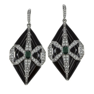 Carolee Cubic Zirconia Art Deco Dangle Earrings