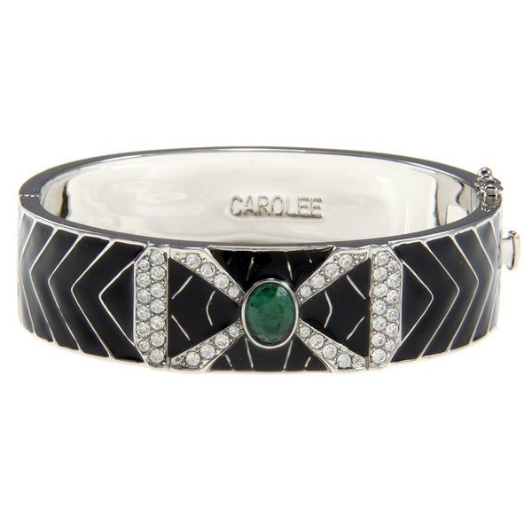 Carolee Art Deco Hinged Bangle Bracelet