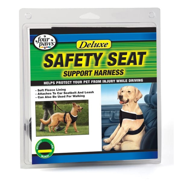 Four Paws Black Extra Small Deluxe Safety Harness