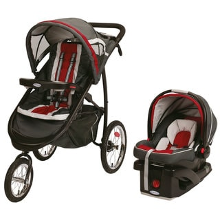 Graco FastAction Jogger Travel System in Chili Red