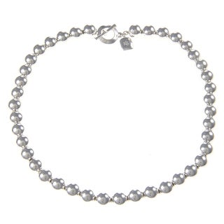 Ralph Lauren Beaded Silvertone Necklace