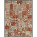 Pak Persian Hand-knotted Patchwork Multi-colored Wool Rug (7'8 x 9'9)