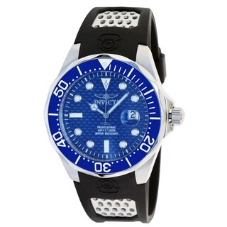 Invicta Men's 'Pro Diver/Grand Diver' Black Polyurethane Watch