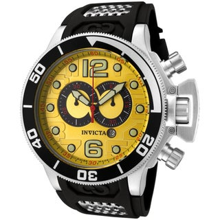 Invicta Men's 'Corduba' Black Polyurethane Watch