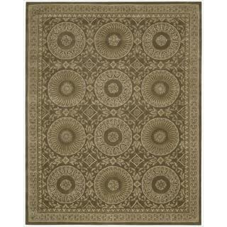 Nourison Hand-tufted Versailles Palace Mocha Brown Rug (7'6 x 9'6)