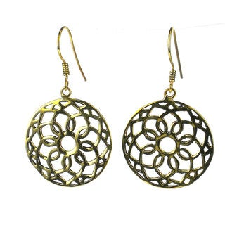 Handcrafted Recycled Floral Bomb Casing Earrings (Cambodia)