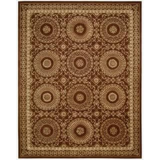 Nourison Hand-tufted Versailles Palace Brick/ Ivory Rug (9'6 x 13'6)