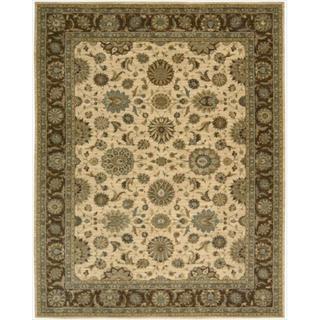 Living Treasures Beige Wool Rug (7'6 x 9'6)