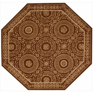 Nourison Hand-tufted Versailles Palace Brick/ Ivory Rug (6' x 6 ) Octagon)