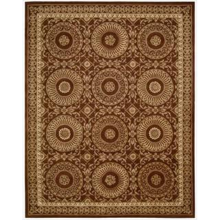 Nourison Hand-tufted Versailles Palace Brick/ Ivory Rug (5'3 x 8'3)
