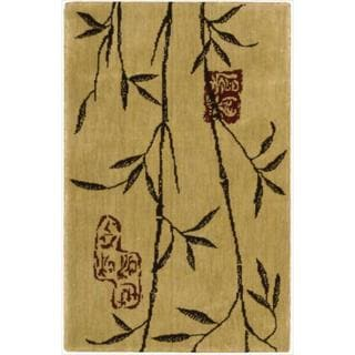 Chambord Asian Bamboo Gold Rug (9'6 x 13')