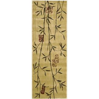 Chambord Asian Bamboo Gold Runner Rug (2' x 5'9)