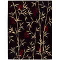 Chambord Asian Bamboo Black Rug (3'6 x 5'6)