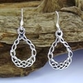 Sterling Silver Celtic Knot Teardrop Earrings (Thailand)