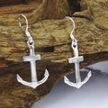 Sterling Silver Anchor of Hope Dangle Earrings (Thailand)