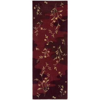 Chambord Floral Burgundy Runner Rug (2'x5'9)