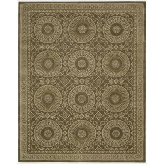 Nourison Hand-tufted Versailles Palace Mocha Brown Rug (8' x 11')