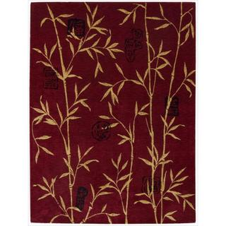 Chambord Asian Bamboo Red Rug (9'6 x 13')