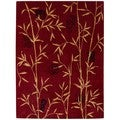 Chambord Asian Bamboo Red Rug (3'6 x 5'6)
