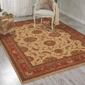 Living Treasures Ivory Red Rug (9'9 x 13'9)