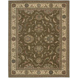 Living Treasures Khaki Rug (5'6 x 8'3)