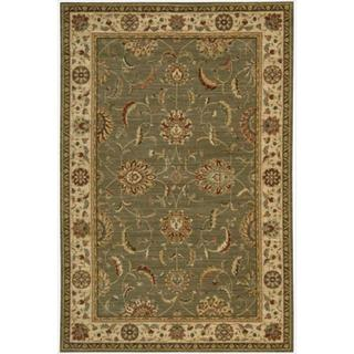 Living Treasures Green Rug (5'6 x 8'3)