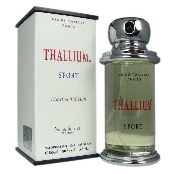 Yves De Sistelle 'Thallium Sport' Men's 3.3-ounce Eau de Toilette Spray