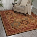 Living Treasures Burgundy Rug (8&#39;3 x 11&#39;3)