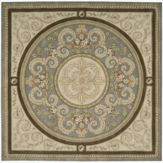 Nourison Hand-tufted Versailles Palace Blue/Beige Rug (8' x 8') Square