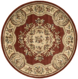 Aubusson Collection Rust Rug (5'3 Round)