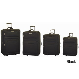 Hercules San Jose 4-piece Expandable Upright Luggage Set