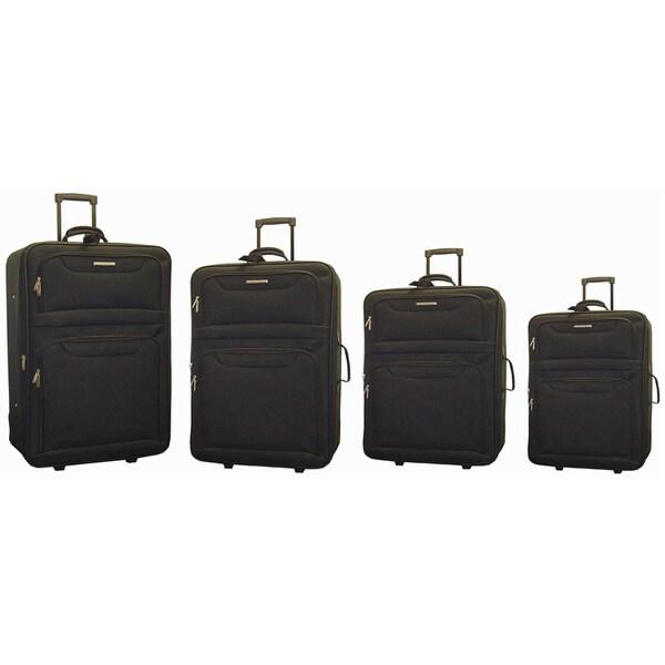 Hercules San Jose 4-piece Expandable Upright Luggage Set
