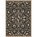 Woven Indoor/ Outdoor Antibes Black/ Beige Patio Rug (5'3x7'6)