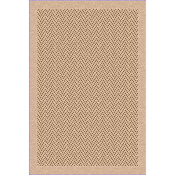 Woven Herringbone Beige/ Light Brown Indoor/ Outdoor Patio Rug (7'9 x 11')