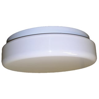White Outdoor 1-light <br>Ceiling Light