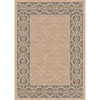 Woven Barrymore Beige/ Grey Indoor/ Outdoor Patio Rug (5'3 x 7'6)