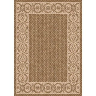 Woven Barrymore Light Brown/ Beige Indoor/ Outdoor Patio Rug (5'3 x 7'6)