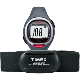 Timex Unisex T5K729 Easy Trainer Heart Rate Monitor Grey/Red Watch