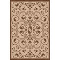 Woven Antibes Beige/ Light Brown Indoor/ Outdoor Patio Rug (5'3 x 7'6)