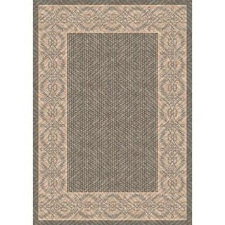 Woven Barrymore Grey/ Beige Indoor/ Outdoor Patio Rug (5'3 x 7'6)