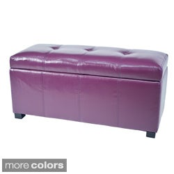 Warehouse of Tiffany 'Ariel' Faux Leather Tufted Storage Bench