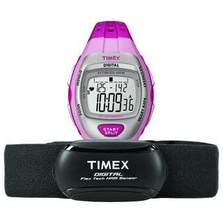 Timex Women's T5K734 Zone Trainer Heart Rate Monitor Pink/Silvertone Watch
