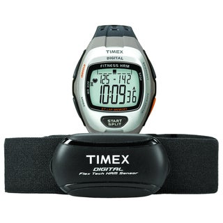 Timex Men's T5K735 Zone Trainer Heart Rate Monitor Dark Grey/Silvertone Watch