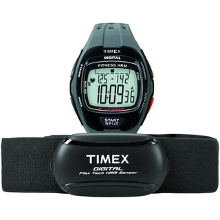 Timex Men's T5K736 Zone Trainer Heart Rate Monitor Grey/Black Watch