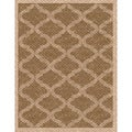 Woven Bombay Light Brown/ Beige Indoor/ Outdoor Patio Rug (6'7 x 9'6)