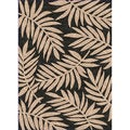 Woven Indoor/ Outdoor Captiva Black/ Beige Patio Rug (5'3 x 7'6)