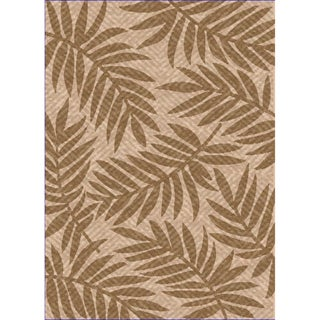 Woven Indoor/ Outdoor Captiva Beige/ Lt Brown Patio Rug (7'9 x 11')