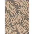 Woven Indoor/ Outdoor Captiva Grey/ Beige Patio Rug (5'3 x 7'6)