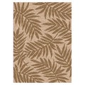Woven Indoor/ Outdoor Captiva Beige/ Lt Brown Patio Rug (6'7 x 9'6)