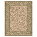 Woven Indoor/ Outdoor Meadow Beige/ Green Patio Rug (5'3 x 7'6)